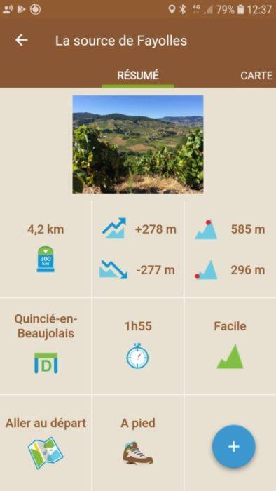 balade facile beaujolais vignes